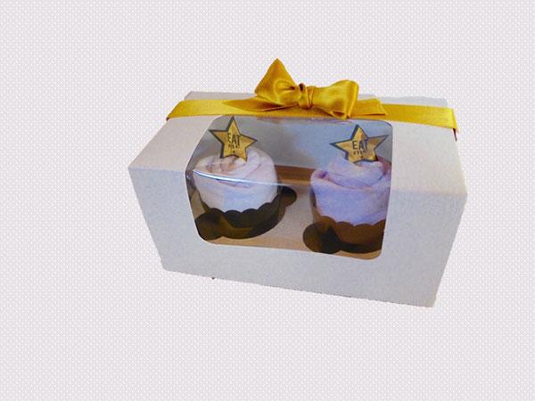 2 bodies cupcake dans boîte de présentation