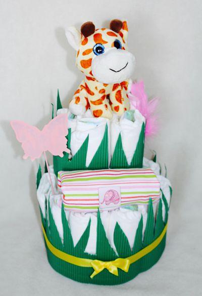 gâteau-de-couches-girafe