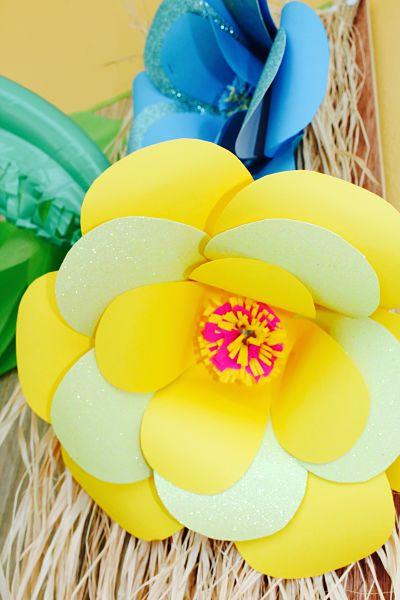 fleur-papier-enfant-Vaïana-guadeloupe