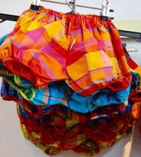 pantalon bloomer en tissu madras