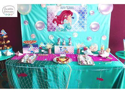 buffet anniversaire sirène guadeloupe