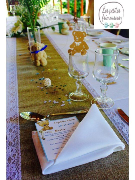 Décoration table baptême